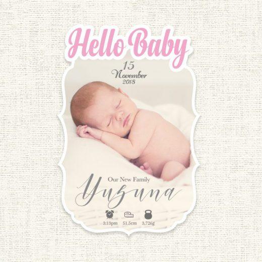 greeting hello出産報告カード