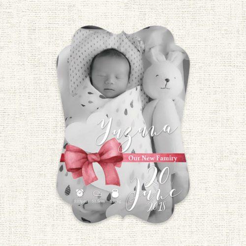greeting hello赤ちゃん誕生お知らせカード